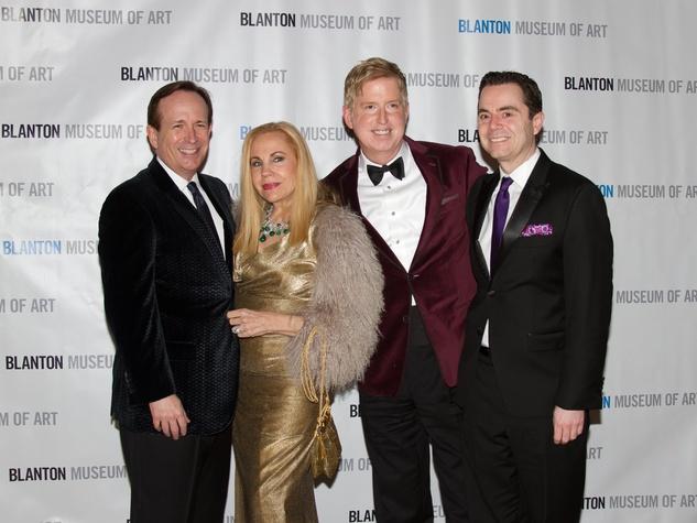 Blanton Art Museum Off The Wall Gala 2015 John Danielson, Carolyn Farb, Lance Avery Morgan, and Rob Giardinelli.
