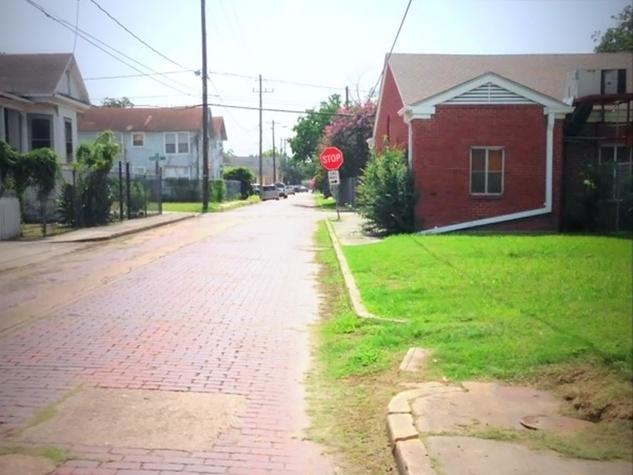 Freedmen's Town bricks street