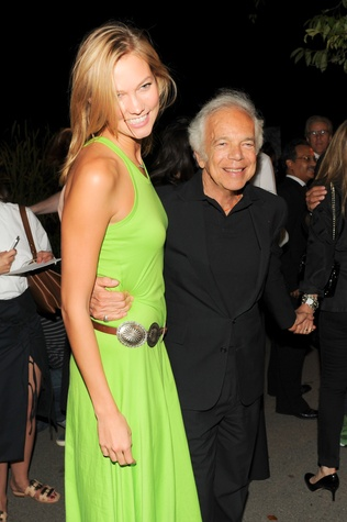 Karlie Kloss and Ralph Lauren at Polo event