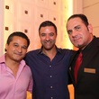 2878 Juan Cao, from left, George Hermes and Joe Arbeely at the Crimson grand opening party July 2014