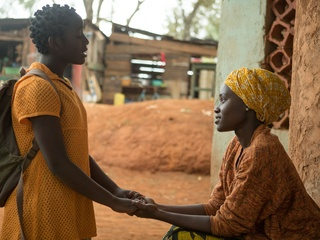 Madina Nalwanga and Lupita Nyong'o in Queen of Katwe