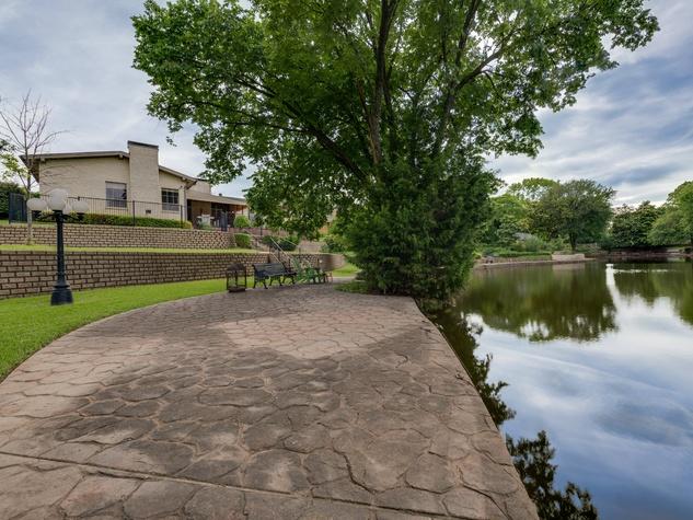 Backyard view at 4224 Briar Creek in Dallas