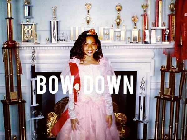 Beyonce, Bow Down, little girl, trophies
