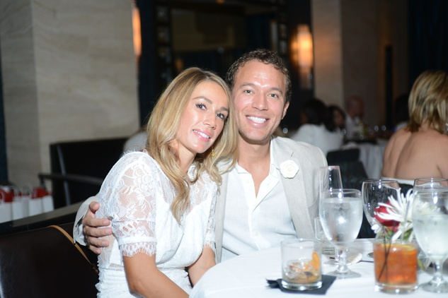 118 Allison Maher and Adam Gillon at the White Hot Summer Night Party at Eddie V's August 2014