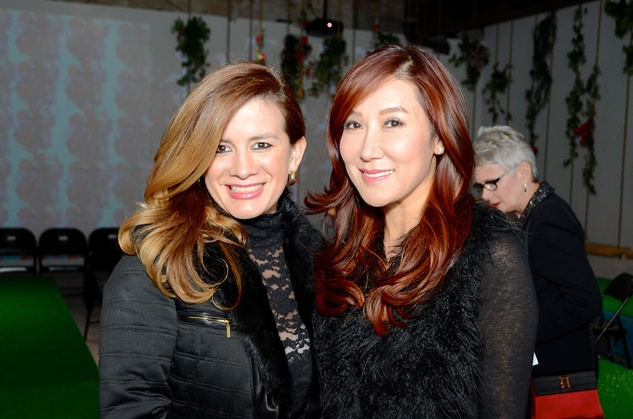 14 Mad'moiselle MoNi, left, and Mandy Kao at the DiverseWorks Fashion Fete November 2014