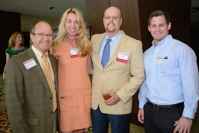 Steven Kirkland, from left, Angelia Pisecco, Charlie Musslewhite and Magee Stephen at the Council on Alcohol and Drugs luncheon May 2014