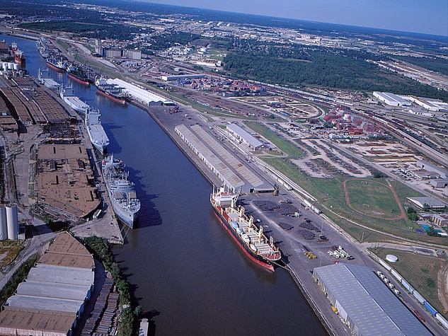 Port of Houston, Houston ship channel, ships