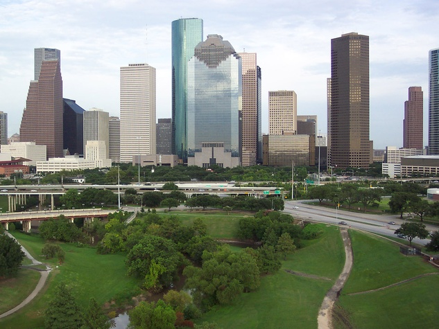downtown Houston, skyline, buildings