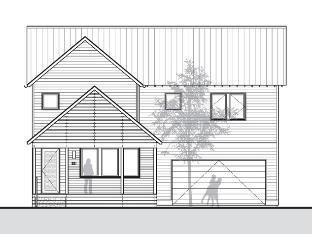 Porch Street on Adele McPherson front elevation sketch July 2014