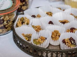 granola samples, Bird Bakery, 2017 CultureMap Dallas Holiday Pop-up