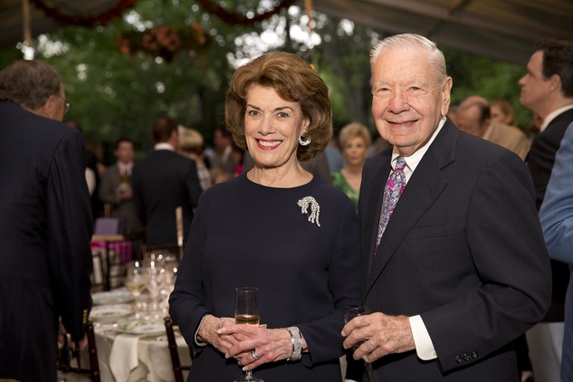 Jeanie Kilroy Wilson and Wally Wilson at the Bayou Bend Garden Party March 2015