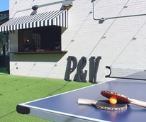 Parlor & Yard bar Dunlap ATX west sixth February 2016 outdoor patio bar ping pong table