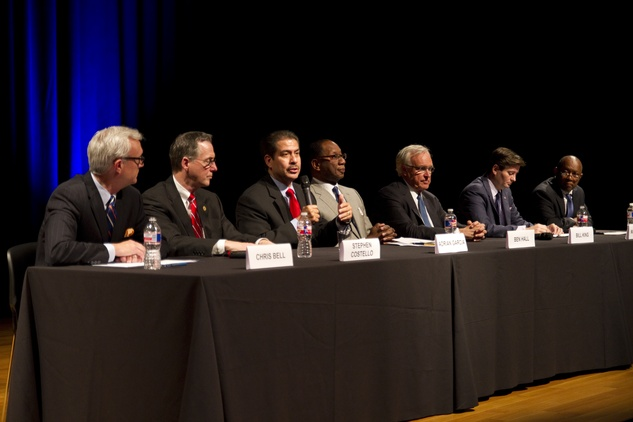 Candidates at the Mayor Forum on the Arts