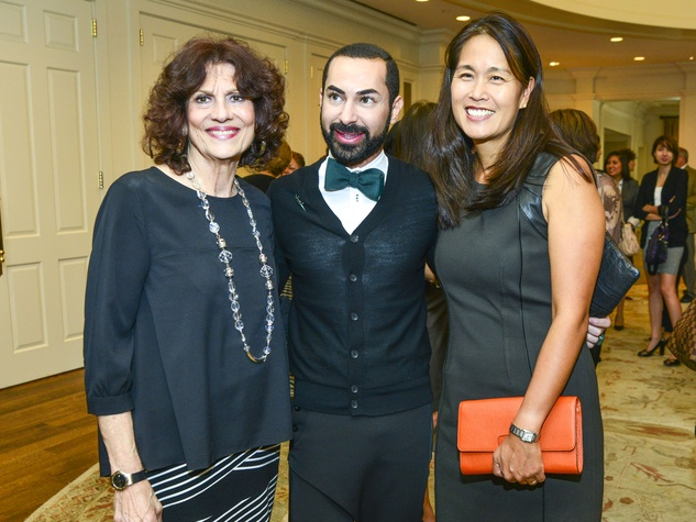 6 Donna Vallone, from left, Fady Armanious and Grace Kim at the Fashion Retailers luncheon October 2013