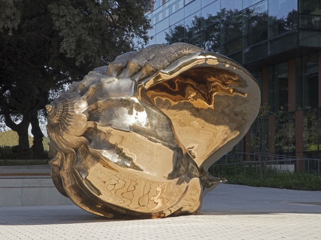 University of Texas Austin Dell Medical School Landmarks art scultpure Spiral of the Galaxy by Marc Quinn