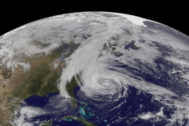 Hurricane Sandy, NASA