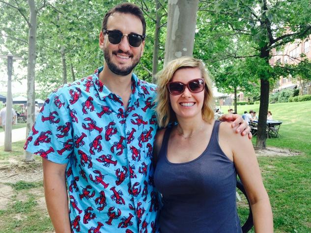 16 Brent Davis and Margot Bradle at the Buffalo Bayou Bash April 2014