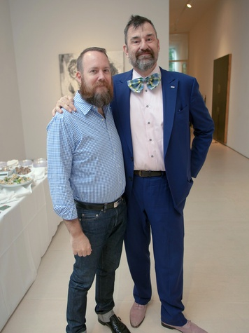 4 Mark McCray, left, and Bill Arning at Musiqa's Spring Benefit May 2014