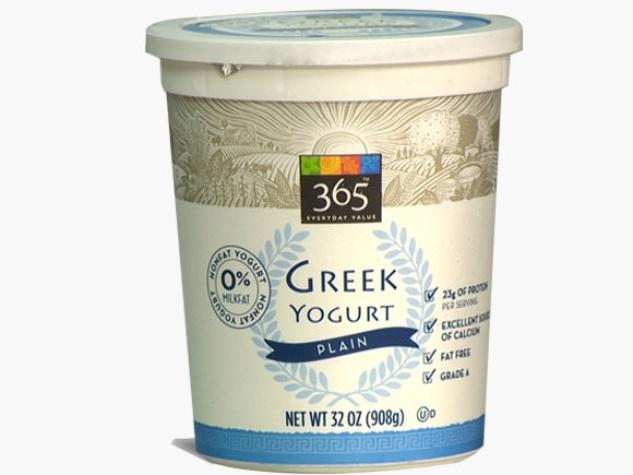 Whole Foods 365 plain greek yogurt