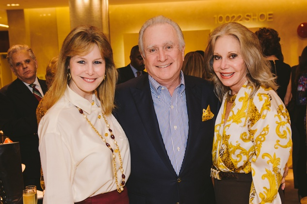 Cheryl Byington, from left, with Jack and Joyce Frassanito at the Passion for Fashion kickoff December 2013
