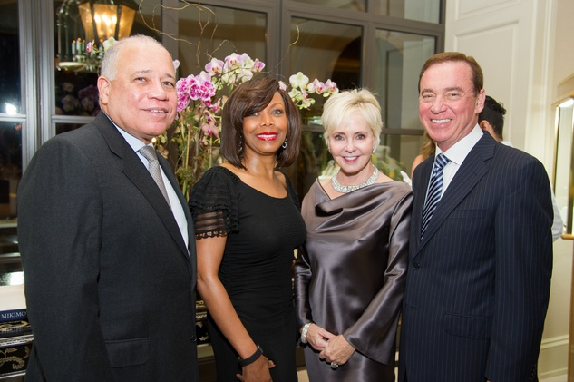 60 Dr. John Clemmons and Lora Clemmons, from left, and Karen and Mike Mayell at the Zadok jewelry dinner October 2014