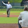 Nolan Ryan Biggio first pitch Astros