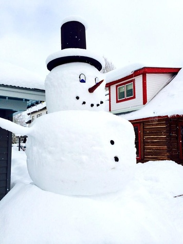 Elevation Hotel & Spa snowman