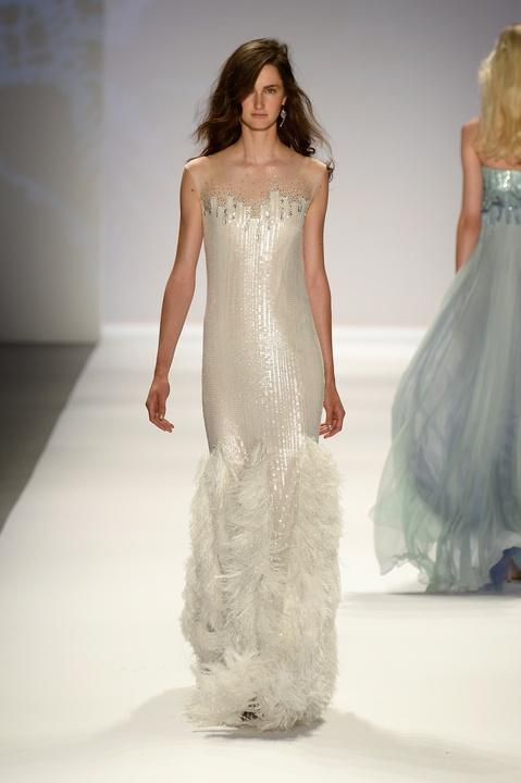 Tadashi Shoji gown fashion week spring 2014