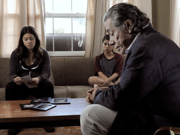 Edward James Olmos, Gina Rodriguez in Filly Brown movie