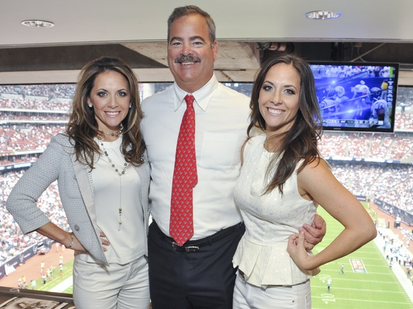 Texans Owners Suite, September 2012, Joanna Hartland, Cal McNair, Hannah McNair