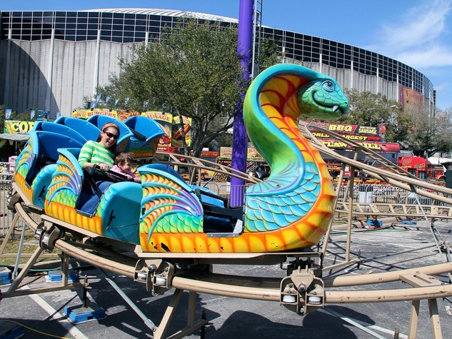 RodeoHouston, family friendly attractions, March 2013, roller coaster