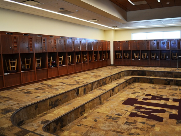 Texas A&M Hildebrand Equine Center team locker room May 2014