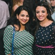 Zee Naqvi, left, and Mariam Wanies at the Houston Symphony Young Professionals Backstage kick-off party