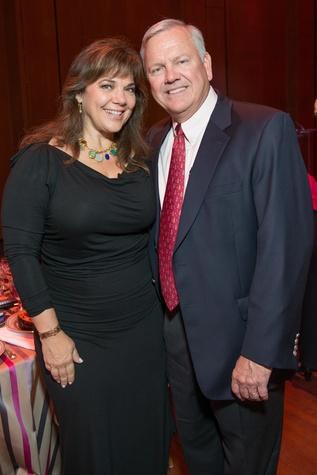 Terri and John Havens at the SPA luncheon with Lauren Bush Lauren October 2014