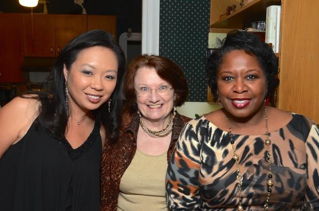 3 Miya Shay, from left, Kathy Hubbard and Mary Benton at Cindy Clifford's birthday bash November 2014