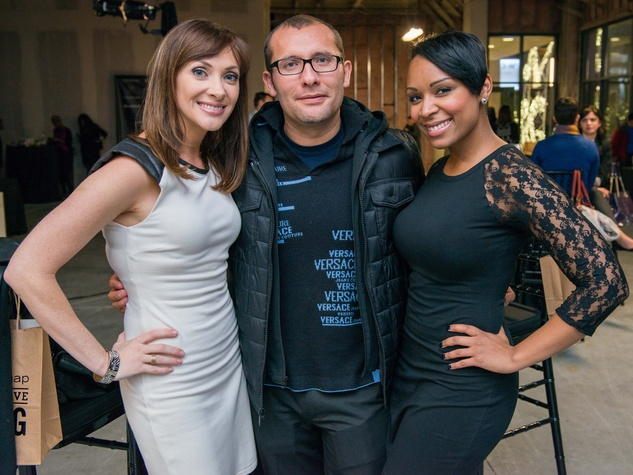 18 Amee Thompson, from left, Ruben Lizaola and Joy Taylor at the CultureMap Social at Gateway November 2014