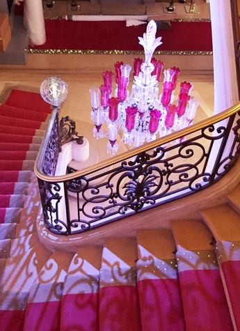 Cherri Carbonara Baccarat factory tour April 2015 Maison Baccarat grand staircase