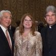 Center for Houston's Future luncheon, March 2016, Michael Jhin, Joni Baird, the Rev. Frank Rossi