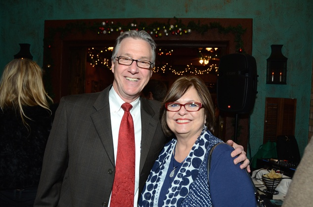 News, Mayor's Hispanic Advisory Board party, Dec. 2015, Steve Costello, Debbie Costello