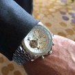 Kliff Kingsbury Breitling watch closeup