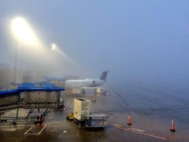 fog in Houston February 2014 fog at airport