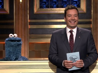 Jimmy Fallon and Cookie Monster