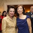 0418 Kathy Goossen, left, and Lily Kooros at the Tiger Ball kickoff party September 2014