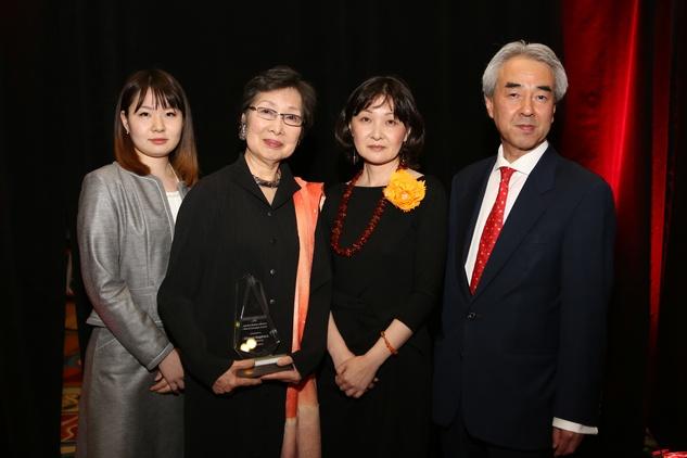Holocaust Museum Courage Award Dinner, May 2015, Nozomu Takaoka, Madoka Sugihara, Michi Sugihara, Oriha Sugihara