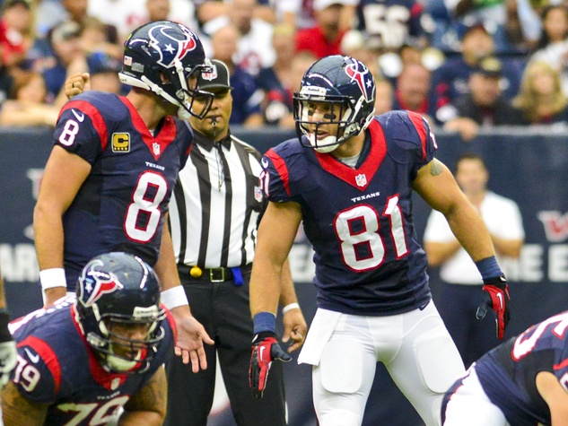 Matt Schaub Texans huddle