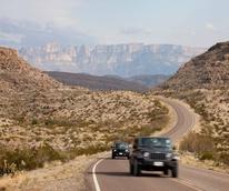 West Texas road trip car