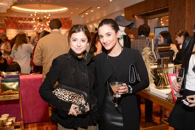 Elisabeth Webb, left, and Jessica Meyerson at the Elaine Turner BLVD Place Grand Opening Party December 2014
