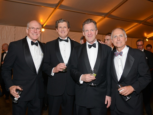 Barclay Armstrong, from left, Thad Grundy, Tom Bacon and David Fitch at Men of Menil March 2014