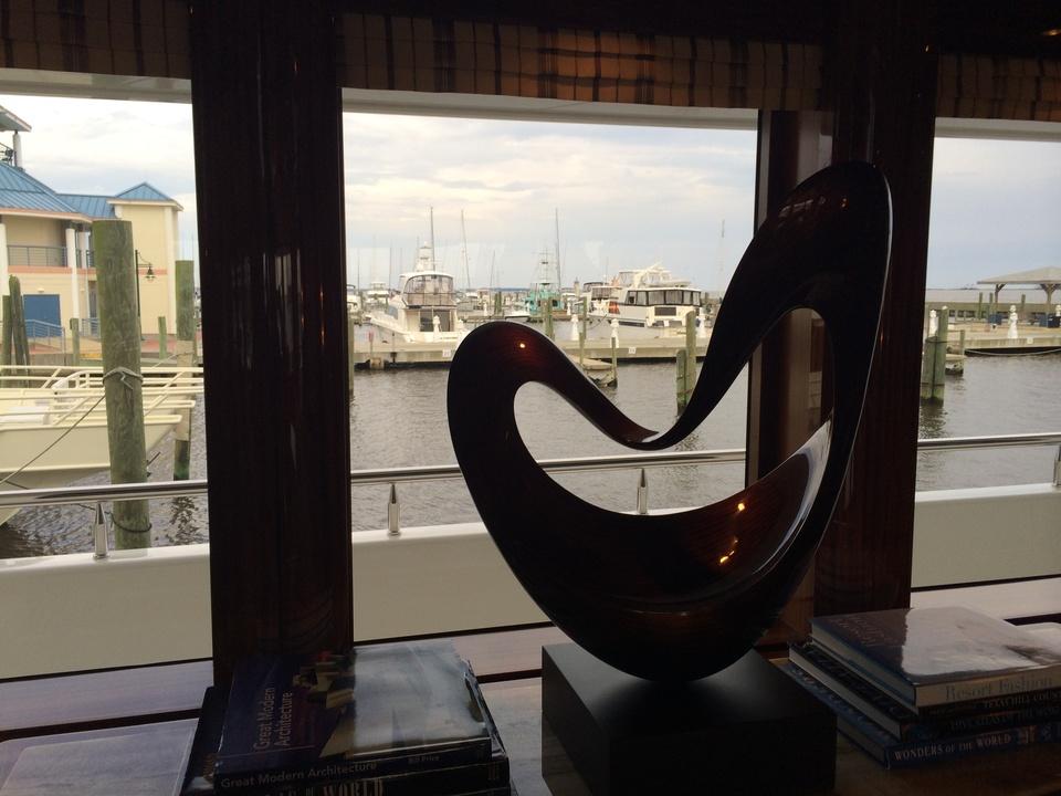 Tilman Fertitta yacht view from window in Biloxi May 2014