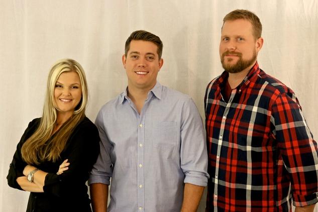 Mix 95.6 morning team Dave Farra, Jason Mahoney and Daena Kramer